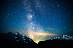 Heavens Peak (Philina_) Tags: heavens peak milky way stars sky night photography nikon glacier national park mountain cloud travel montana
