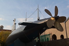 Enrico Toti 4 (PhillMono) Tags: warship navy naval museum history heritage maritime nautical preserved milan leonardo da vinci science technology enrico toti submarine propeller conning tower hull italy travel tourist perspective creative nikon dslr d7100