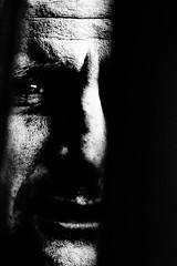 Watching you (Andy J Newman) Tags: monochromatic shadow portrait man silverefex monochrome shade street d500 dark silhouette nikon eye blackandwhite stubble candid southsomersetdistrict england unitedkingdom gb