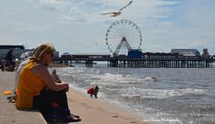 Thinking (jane.hards) Tags: blackpool blackpoolpromenade seaside british britishsummer lancashire people ferris wheel pier iconic thoughtful holiday timeout