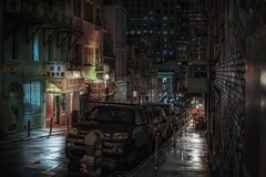 Deep San Francisco (karinavera) Tags: travel sonya7r2 view building architecture city sanfrancisco street people night chinatown