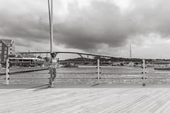 Floating Bridge (Bflockton) Tags: curaçao travel blackandwhite canon bridge