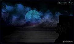 Composizione notturna - Luglio-2017 (agostinodascoli) Tags: art digitalart digitalpainting photoshop photopainting texture nature paesaggi lanscape nuvole cielo luna agostino dascoli nikon nikkor cianciana sicilia creative
