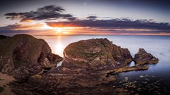 From Atop the Cliffs (Augmented Reality Images (Getty Contributor)) Tags: canon cliffs clouds colours dusk landscape leefilters longexposure morayfirth portknockie rocks scotland sunset water waves