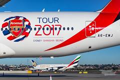 A6-EWJ EK B77L Arsenal Kilo Ramp YSSY-0105 (A u s s i e P o m m) Tags: mascot newsouthwales australia au emirates ek boeing b77l arsenal sydneyairport syd yssy