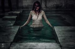 water trap (Maria Nenenko) Tags: idea concept conceptual marinino marininoart fineart art portrait creepy water wet tbilisi georgia bath cinematic film conceptphotos dark melancholy darkness horror whitedress