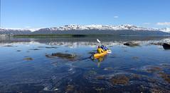 Sea Kayaking (Claire Heath :)) Tags: seakayaking arctic norway tirpitz battleship landscape snowcappedmountains claireheath sonyrx100 history warhistory greatoutdoors seascape
