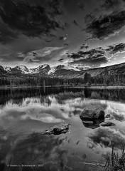 JM_RockyMT_05_31_17_193 (HarrySchue) Tags: nationalparks rockymtnationalpark sunset monchrome blackwhite nature mountains nikon d800e reflections
