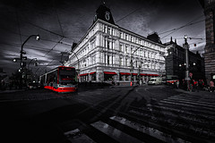 Kavarna Slavia Praha (Radek Lokos Fotografie) Tags: cafe kaffeehaus praha prag czech visit train cine dark mood old town city capitol color red drama