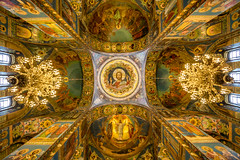 mosaic overload (lensflare82) Tags: erlöserkirche church blood st petersburg russia russland wahrzeichen monument sight cathedral onion dome zwiebelturm christ mosaic mosaik impressive architecture russian orthodox extraordinary decke architektur indoor eos 700d canon kirche ceiling ornament