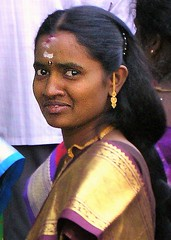 Madurai wedding guest (bokage) Tags: india tamilnadu madurai tamil woman bokage