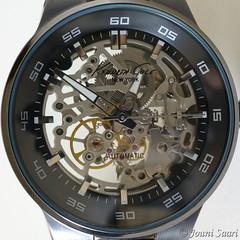 Skeleton clock (J Saari) Tags: a900 sigma70mmf28exdgmacro clock watch automaticwatch kennethcole clockwork 21jewels kc8048 time
