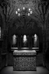Illumination (innpictime ζ♠♠ρﭐḉ†ﭐᶬ₹ Ȝ͏۞°ʖ) Tags: holy architecture light church dark bw illumination chapel shining mary hereford herefordcathedral 520543542715759 bishopstanbury chantrychapel altar altarscreen fanvaulting availablelight aglow reverential lightinthedark