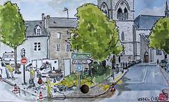 La France des Sous-Préfectures 19 (chando*) Tags: aquarelle watercolor croquis sketch france