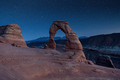 Delicate Arch Under the Stars (NickSouvall) Tags: delicate arch arches national park moab utah dark dusk stars astro astrophotography late night nightscape landscape blue hour clear sky picture photo nature