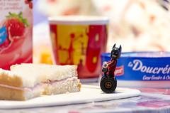 Breakfast time (Yoann!) Tags: lego legography minifigs minifigurine minifigures minifigure minifigurines minifig mfs breakfast time batman movie bread tartine afol petit déjeuner segway