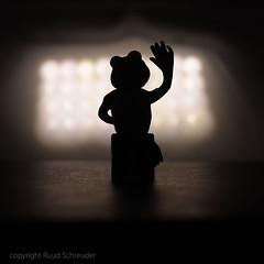 Frog on stage - Macro Monday Theme Silhouette (Ruud.) Tags: ruudschreuder nikon nikond810 d810 105mm 105mmf28 macromondays mm hmm macro makro closeup silhouette show kermit frog frosch kikker