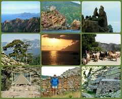 Corse  (Juin 2007) (France-♥) Tags: corse corsica hautecorse collage travel memories france porto calanches chèvres goat nature piana