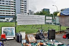 Sungei Road Flea Market (chooyutshing) Tags: banner information sungeiroadfleamarket pittstreet singapore