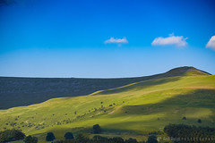 Brecon Beacons 01 (Andi Rusyn) Tags: colourlandscapephotography brecon beacons wales hills fields nature summer sunnyday green blue sheep trees bushes shrubs
