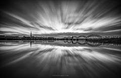 Boundless (rh89) Tags: latvia riga daugava river long exposure black white monochrome mono bw clouds reflection reflections bridge city cityscape urban travel filter filters neutral density nd