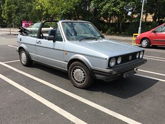 (Sam Tait) Tags: nottingham fun summer car classic rare retro convertible softtop cabrio cabriolet cerb silver gti rabbit golf mk1