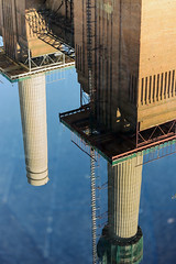 Battersea Power Station Reflected (nydavid1234) Tags: nikon d600 nydavid1234 london battersea batterseapowerstation england dslr water reflection architecture engineering