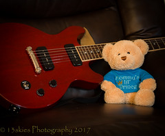 Rama Hangin' with the Gibson (HTBT) (13skies) Tags: happyteddybeartuesday teddybear gibson guitar rock music compose play strum wail loud pick sing song cherryfinish rama bear