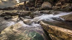 water stream (canon-Tom) Tags: sea seascape landscape nature waterfall fall sun sunrise sunset sunlight coast river rocks travel taipei taiwan longexposure water beach clouds