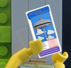 Off on Vacation (VAkkron) Tags: lego vacation travel brochure cloud city free car rentals