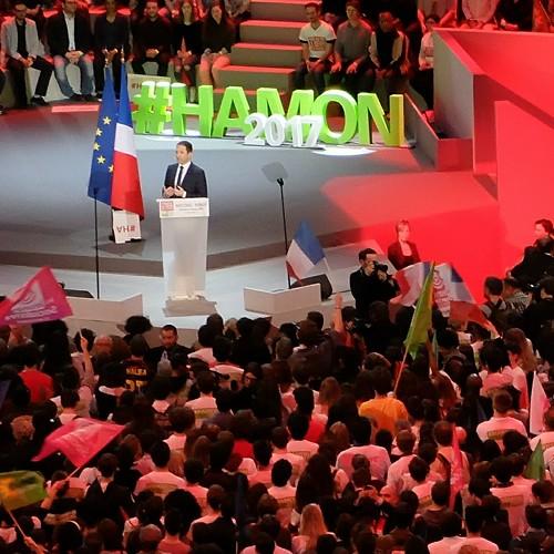 Hamon à Bercy, Paris