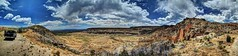 Cochiti Canyon (JoelDeluxe) Tags: jemez mountains cochiti canyon newmexico panorama landscape burned area trees skies rocks green riparian nm hdr joeldeluxe