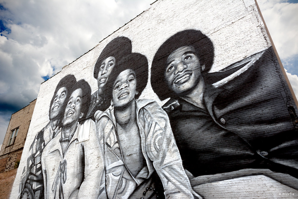 The world 39 s best photos of gary and indiana flickr hive mind for Jackson 5 mural