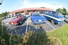 Classic Cars Corvair Club Hoyt's Restaurant Lexington, NC 20170710_4249 (Shane's Flying Disc Show) Tags: classiccars corvairclub davidson nc lexinton unsafeatanyspeed daredevils