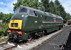 """Swindon 'Warship' D832 """"ONSLAUGHT"""" at Rawtenstall, ELR Diesel Gala (colin9007) Tags: railway lancashire east diesel gala rawtenstall br swindon hydraulic bb maybach warship class 42 type 4 d832 onslaught"""
