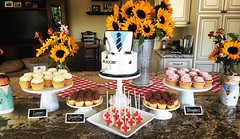 Doctor's graduation dessert table (jennywenny) Tags: cookies cupcakes doctor cake graduation pops