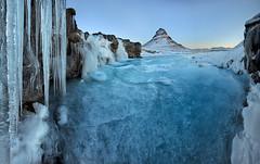 Kirkjufell (mountain) and Kirkjufellness (waterfall), Iceland (MelvinNicholsonPhotography) Tags: kirkjufell kirkjufellness iceland waterfall icicles