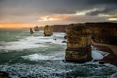 12 apostles of victorea (gi-moon Kang) Tags: great ocean road 12apostles sea victoria australia port campbell sunset rainy clods nature landscape