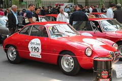 #190 Alfa Roméo Giulietta Sprint Zagato 1961 (seb !!!) Tags: berlinette coupé coach italie italy italienne italian italia rouge red rosso rojo vermelho rot classique classic klassic chrome 2017 auto automobile automovel automovil automobil canon 1100d cars course sportive anciennes ancienne old oldtimers populaire paris france seb voiture wagen car tour optic 2000 grand palais race racing competition photo picture foto image bild imagen imagem