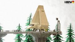 074 - Smoke over Endor (dmaclego) Tags: lego star wars forest sanctuary moon endor project return jedi moc