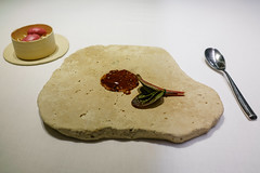 Hare Rillettes with Beetroot Blinis (Premshree Pillai) Tags: tastingmenu dinnerforone food restaurant dinner barcelona spain barcelonafeb17
