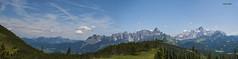 """Österreich, geführte Wanderung zum Gerzkopf, """"Sicht auf den Gosaukamm mit der Bischhofsmütze"""" 2458m ü. A. (joergpeterjunk) Tags: österreich outdoor panorama vegetation berg 2995müa canoneos50d canonefs1785mmf456isusm 2458müa bischhofsmütze gosaukamm"""