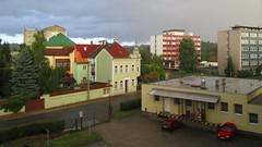 Rozhled z okna domova mládeže zemědělské školy
