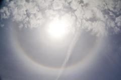 Solar Ring (brucetopher) Tags: solar ring solarring halo rainbow sundog prism colorful sky cloud anomaly astronomy astonomical sun skies circle hazy haze texture