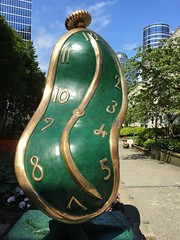 "Salvador Dali's melting watch ""Dance of Time 1"" (Sherwood411) Tags: sherwood411 vancouver watch green sculpture dali melted salvador melting dance time persistence memory"