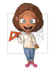 Math Girl Clip Art (ClassCrown) Tags: studentclipart teacherclipart clipart clipartforteachers kidsclipart kids african africanamerican black multicultural math girlclipart blackgirlclipart africangirlclipart