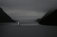 Not What Ships Are For (coollessons2004) Tags: sloop ship boat newzealand doubtfulsound fog foggy sea pacificocean ocean straight mountains