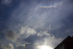 sun dog (Jo Evans1 - Off and on for a while) Tags: sun dog parhelion prince wales dock swansea smq rainbow shaped