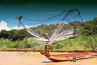Fishing In Tonlé Sap Lake,  Siem Reap,  Cambodia