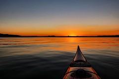 Coming Home (Yarin Asanth) Tags: canoe boat carbon kevlar usa cypress wow yarinasanth gerdkozik silence kayaking surface red sun blue orange atmosphere mood evening currentdesigns kayak sundown sunset lakeconstance